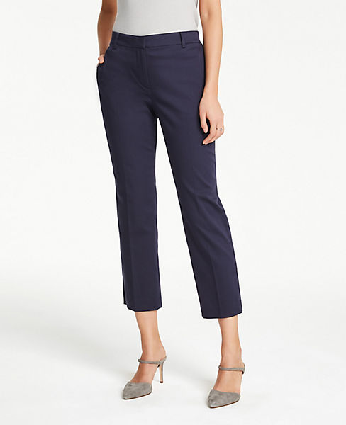 The Petite Ankle Pant In Cotton Sateen - Curvy Fit
