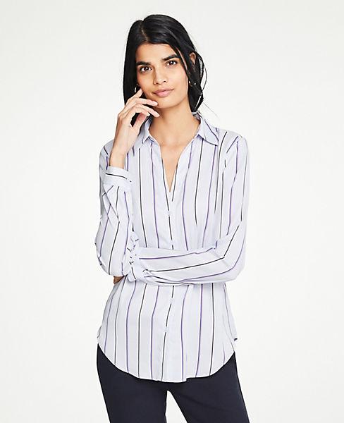 Petite Striped Essential Shirt