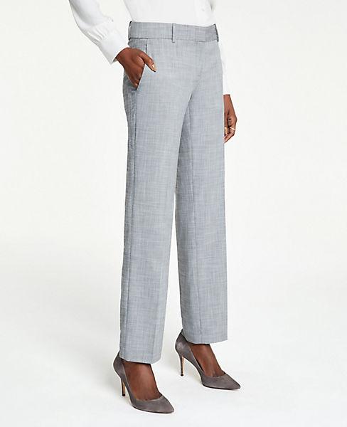 The Petite Straight Leg Pant In Crosshatch