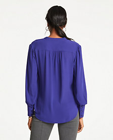 5bd964727 Image 2 of 2 - Shirred Button Down Blouse