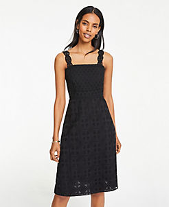16322af89b Lace Strap Eyelet Flare Dress