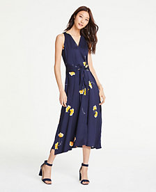 d219bf06aab06 Image 3 of 4 - Floral Tie Front Midi Dress