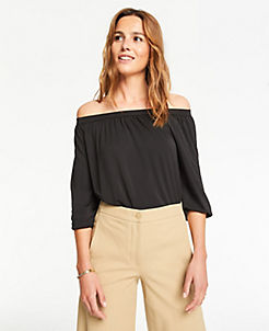 3b78baea625f80 Off The Shoulder Blouses & Tops for Women | ANN TAYLOR