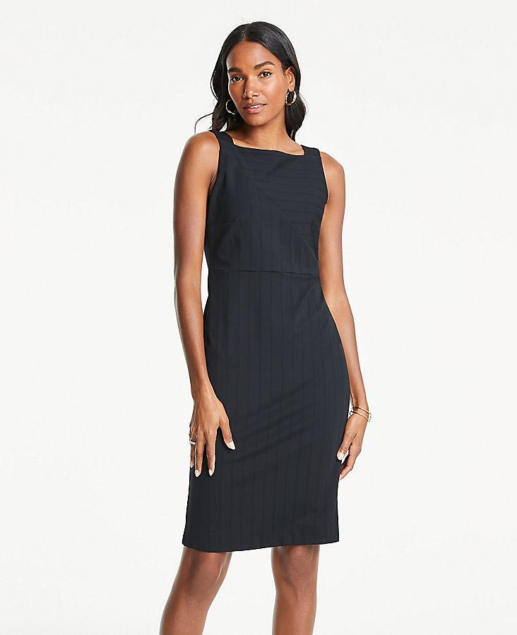 1b6dff6bfda Striped Ponte Square Neck Sheath Dress