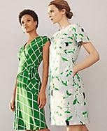 86eee6c844f Image 5 of 5 - Floral Flutter Sleeve T-Shirt Dress