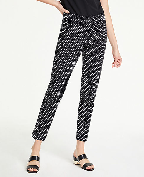 The Cotton Crop Pant In Ikat Dot by Ann Taylor