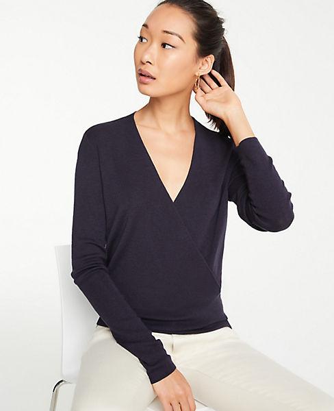 Petite Crossover Sweater