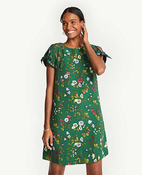 516aff78817 Floral Tie Sleeve Shift Dress | Ann Taylor