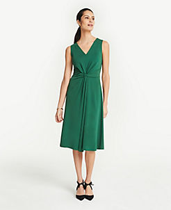 75a36f0a381 Tall Matte Jersey Knot Front Midi Dress