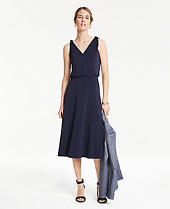 da06dbaf6ba Shoulder Tie Flare Dress