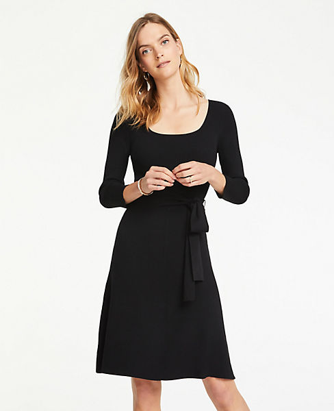 Petite Belted Sweater Dress