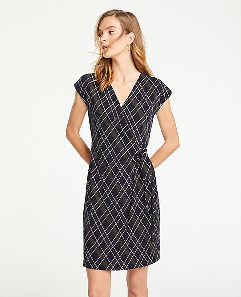 Petite Plaid Wrap Dress