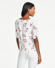 e32aac36a5c995 Image 2 of 2 - Floral Tie Waist Top