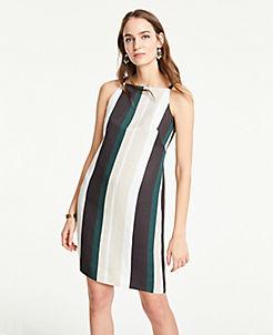 212495ca4ec Striped Square Neck Shift Dress