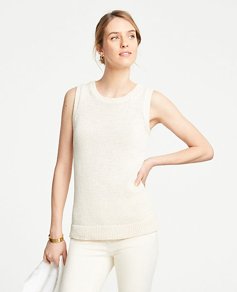 Textured Sweater Shell by Ann Taylor