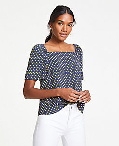 fc977f045b7b Short Sleeve Tops for Women | ANN TAYLOR
