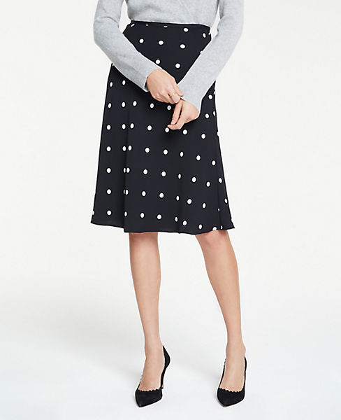 Petite Polka Dot Flare Skirt
