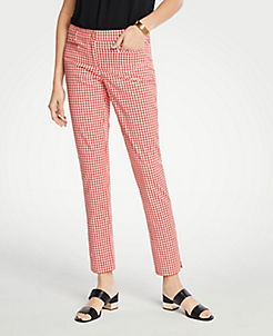 52dafc76bfe The Cotton Crop Pant In Gingham