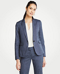 733de4a01cd Linen Blend One Button Blazer