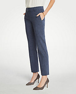 d77f90a53f5 The Straight Pant In Linen Blend - Curvy Fit
