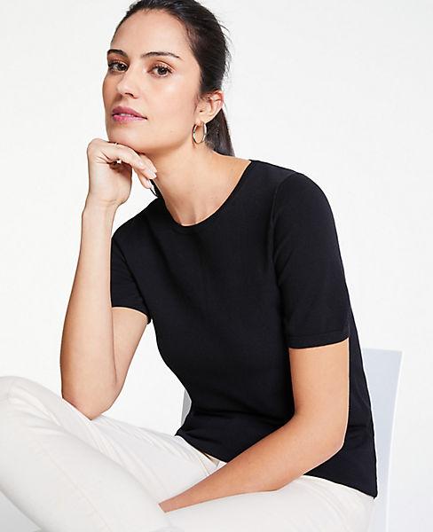 Petite Short Sleeve Sweater