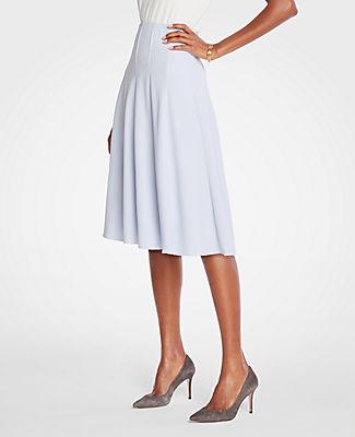 410471b7ed Ann Taylor Petite Seamed Full Skirt In Cool Peri | ModeSens