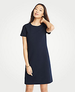 fc6fad78585 Textured Knit Short Sleeve Shift Dress