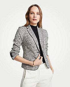 490c6fb0f4d The Petite Newbury Blazer in Marled Knit