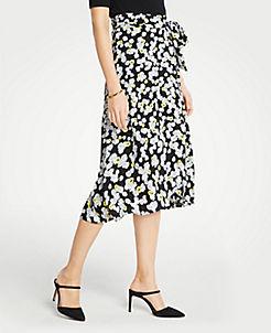 fd13d549390 Petite Poppy Tie Waist Wrap Skirt