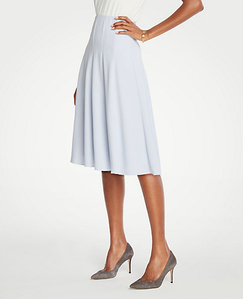 Petite Seamed Full Skirt