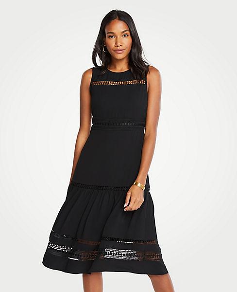 0de19f7eb8d3 Petite Lace Trim Midi Dress | Ann Taylor
