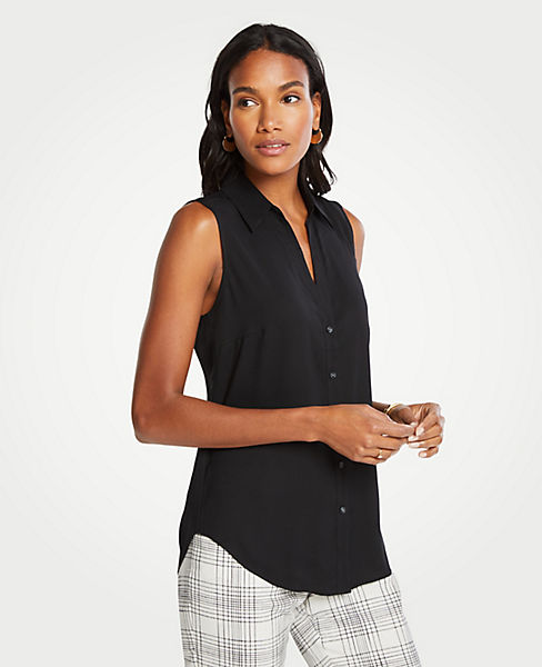 Petite Essential Sleeveless Shirt