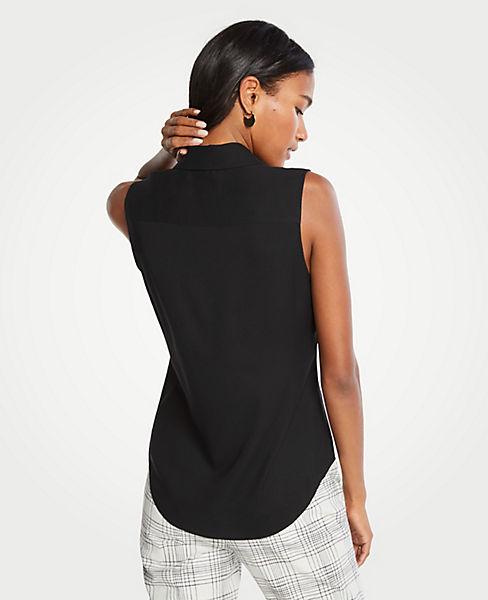 a579cfb11bba Petite Essential Sleeveless Shirt | Ann Taylor