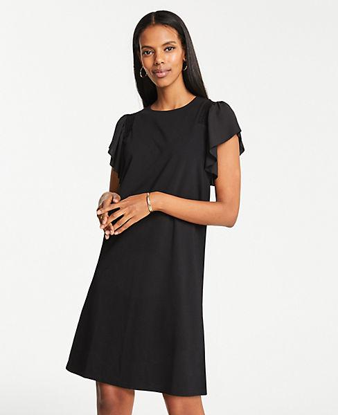 Petite Smocked Knit T-Shirt Dress
