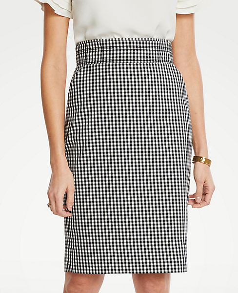 8cd904db89 Curvy Gingham Pencil Skirt | Ann Taylor