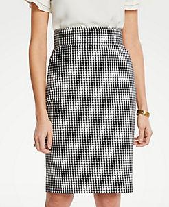 dafedbc0db Curvy Gingham Pencil Skirt