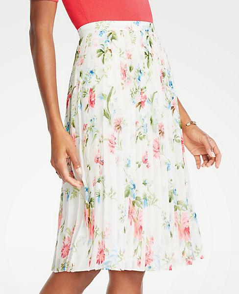1a014adba78d Petite Floral Pleated Skirt | Ann Taylor