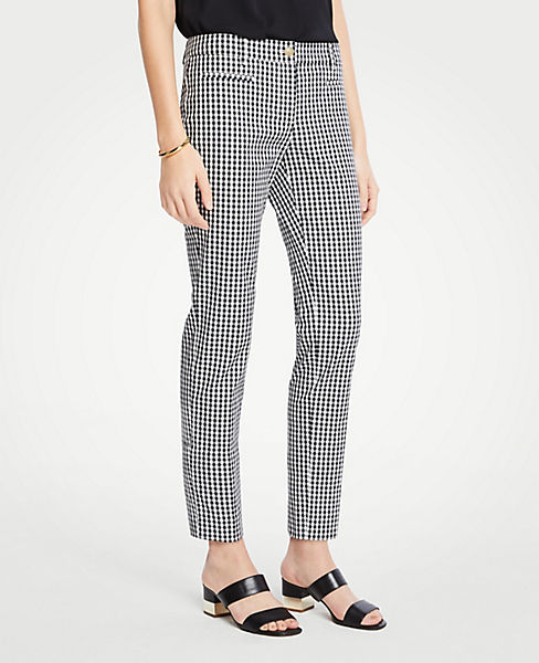 The Petite Cotton Crop Pant In Gingham