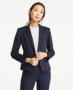 69f10a8bd308 The 1-Button Blazer in Cotton Sateen