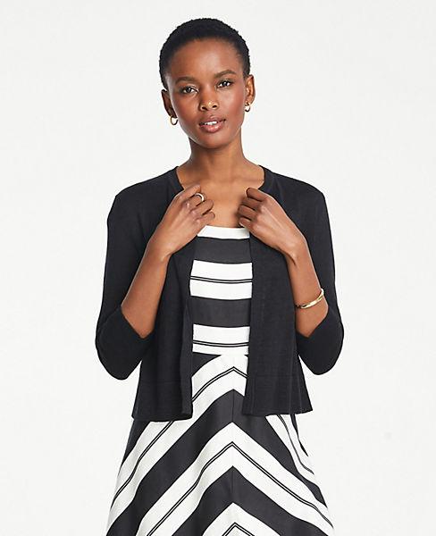 Petite Linen Blend Dress Cardigan