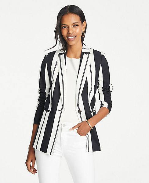 Striped Long Blazer by Ann Taylor