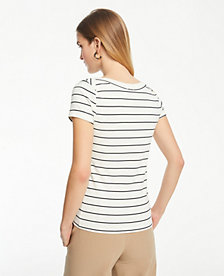 b59f0316fa Image 2 of 4 - Striped Boatneck Luxe Tee