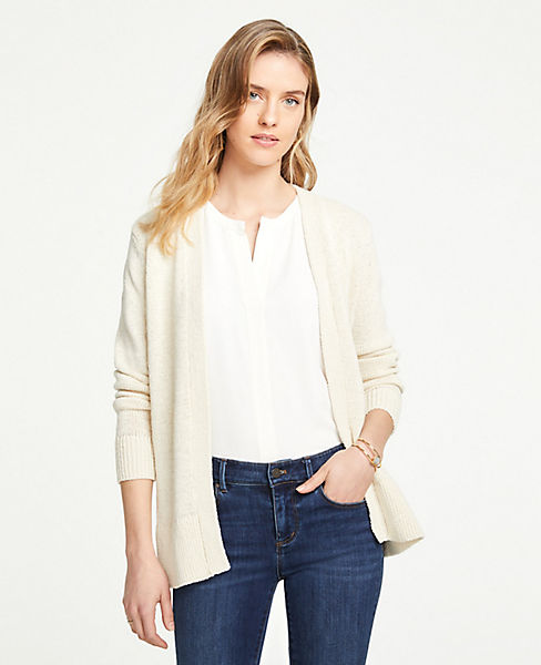 88f4a6d38db41 Side Slit Open Cardigan | Ann Taylor