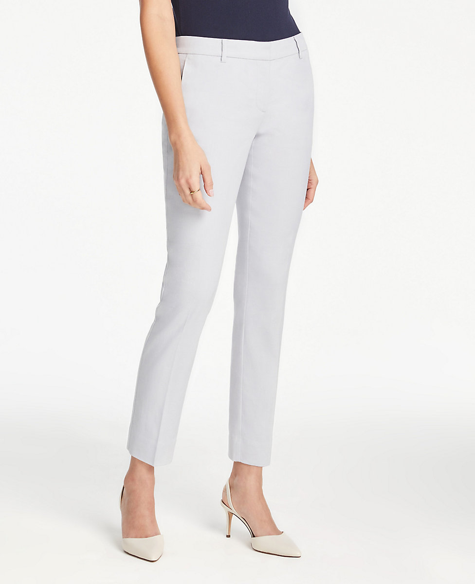 bottom price super cheap classcic The Petite Ankle Pant In Linen Blend - Curvy Fit | Ann Taylor