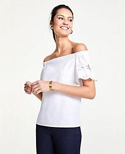 9b372ec39cd White Blouses & Tops for Women | ANN TAYLOR