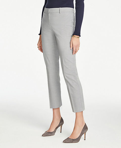 The Petite Ankle Pant in Graph Check - Curvy Fit