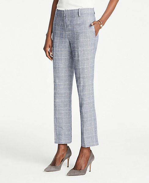 The Petite Ankle Pant In Glen Check - Curvy Fit