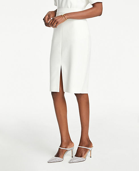 Petite Front Slit Pencil Skirt by Ann Taylor