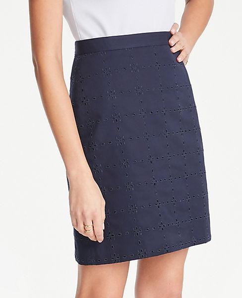 Petite Eyelet A-Line Skirt