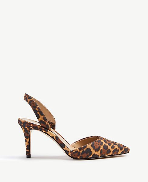 Kerry Leopard Print Slingback Pumps by Ann Taylor
